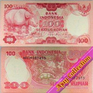 Uang Kertas Rp.100 Tahun 1977
