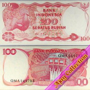 Uang Kertas Rp.100 Tahun 1984