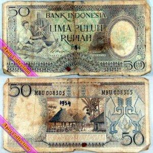 Uang Kertas Rp.50 Tahun 1954