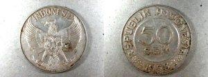 Uang Logam 50 Sen Tahun 1958
