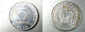 Uang Logam Rp.5 Tahun 1974