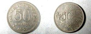 Uang Logam Rp.50 Tahun 1971